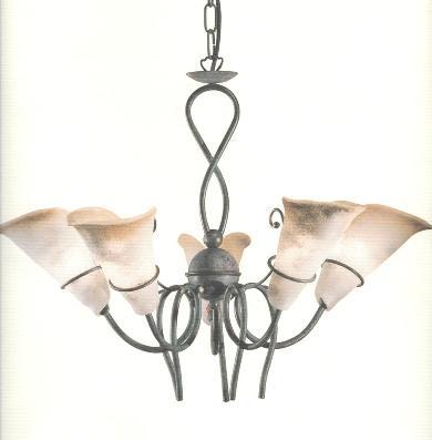 LAMPADARIO 5 LUCI OUTLET LUCI IR8064/5 Idea Luce di Filippi - Carr? ...