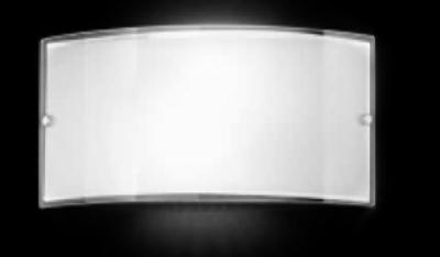 Applique vetro fascia bianco lucido 33cm perenz 6088b idea luce di