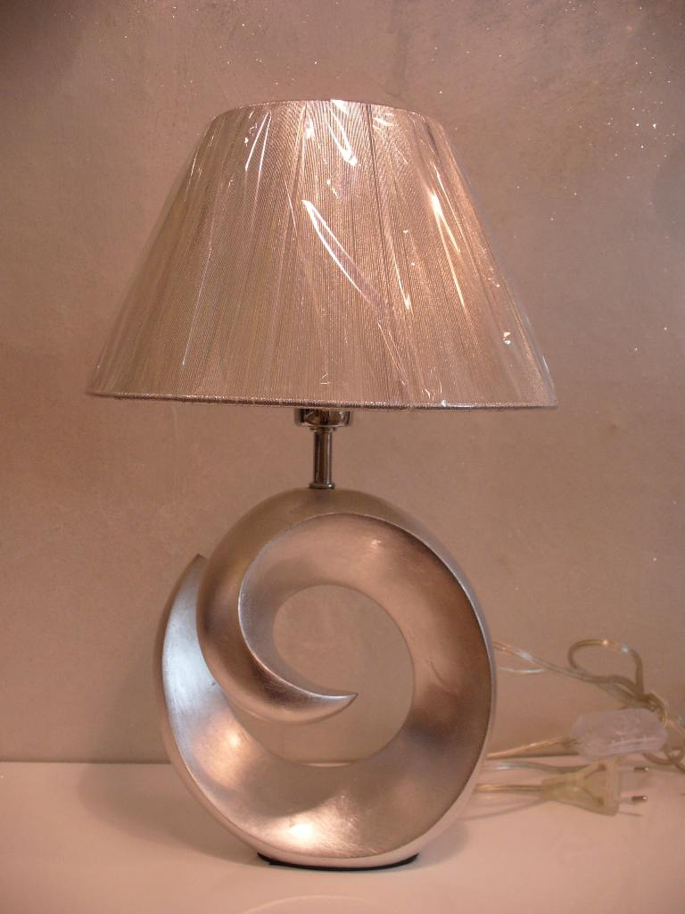 Lampada Da Comodino Argento.Lampada Da Tavolo Ideal Lux Happy 10 Tl1 Small Arg Idea Luce Di