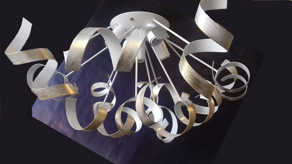 Lampadario Bianco Opaco : Lampadario luci bianco oro sfumato ideal lux vortex pl oro idea