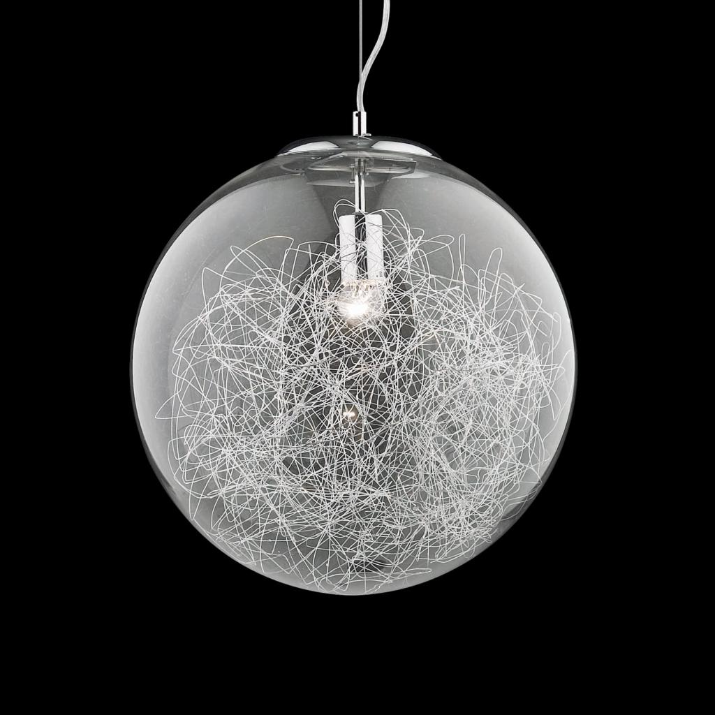 lampadari cuneo : Lampadarioa forma di globo con fili trasparenti IDEAL LUX MAPA MAX SP1 ...