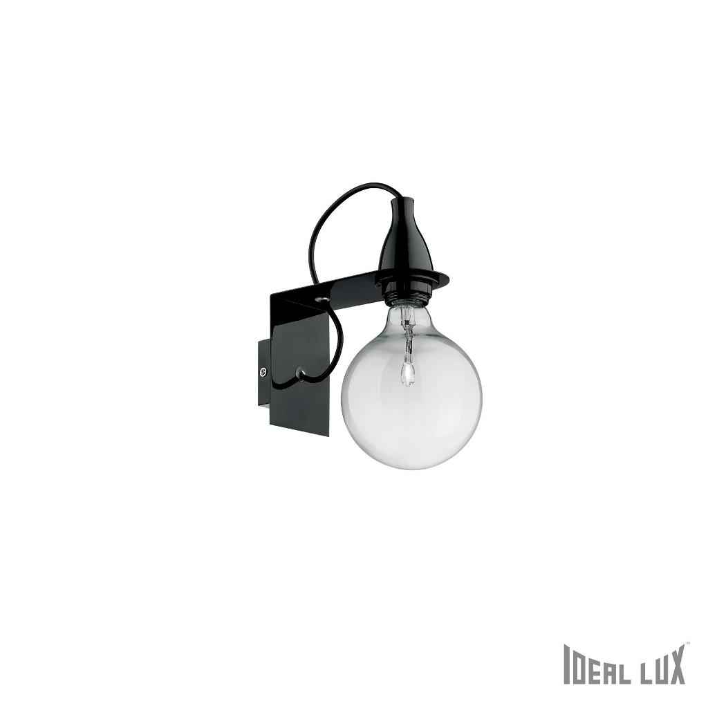 Lampada Da Parete Ideal Lux Minimal Ap1 Nero Idea Luce Di Filippi