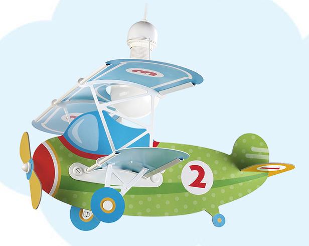 Lampadario aeroplano bambini 33525 luci e colori for Lampadari per bambini ikea
