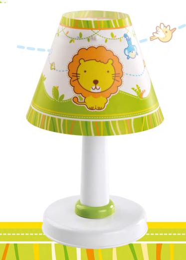Lampada comodino bambini zoo 21111 dalber for Lampade bambini