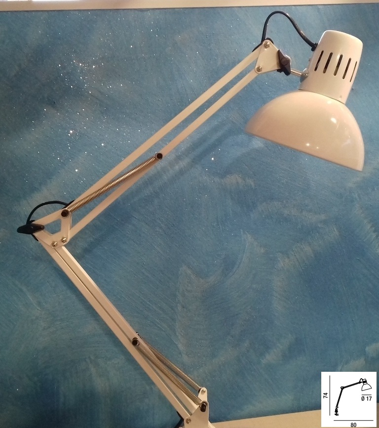 Lampada Da Scrivania Con Morsetto Bianca Perenz 4025b Idea Luce Di Filippi Carru Cuneo