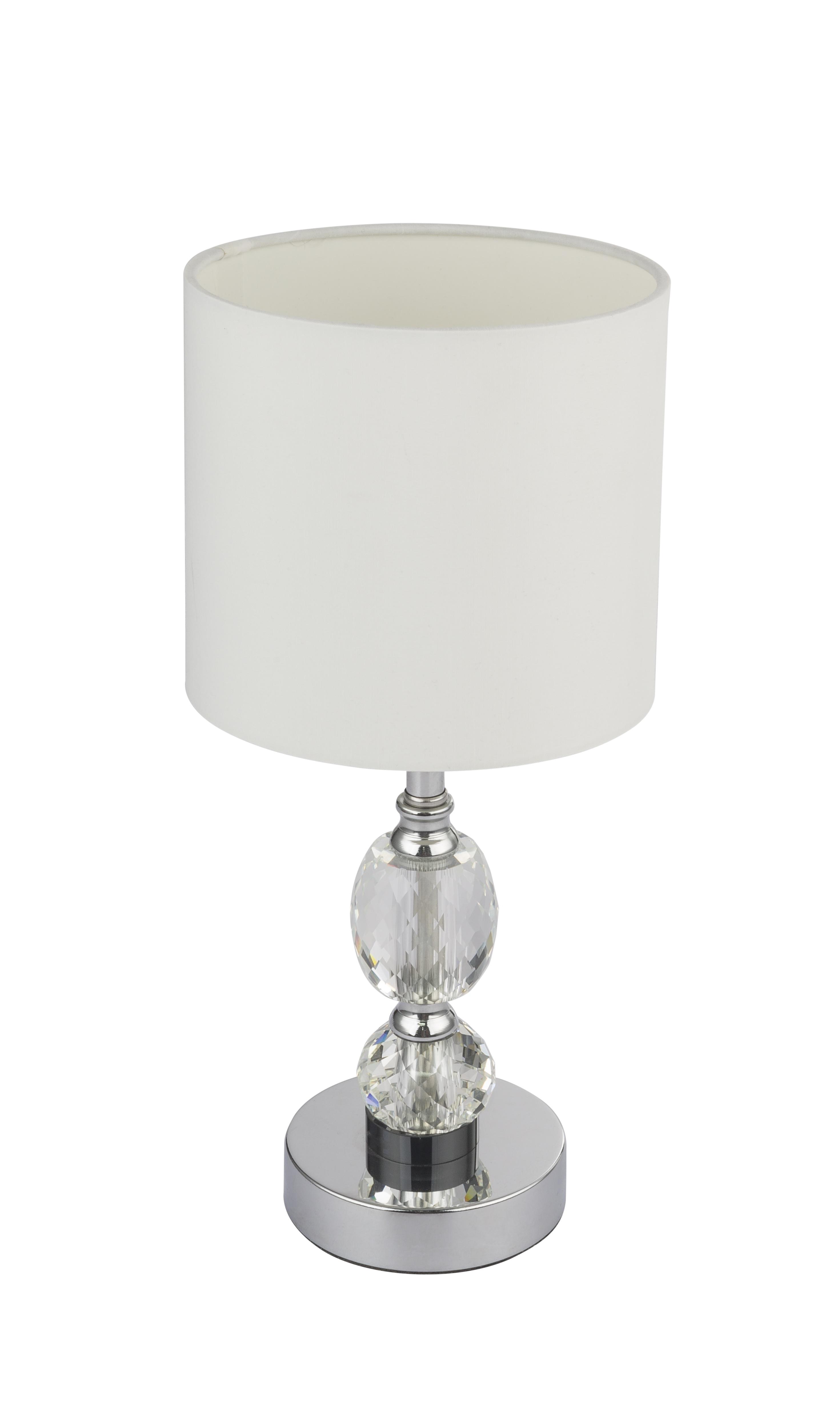 Lampada Tavolo Piccola Elegante Vetro Cristalli Sfaccettati Globo Lighting 24136 Idea Luce Di Filippi Carru Cuneo
