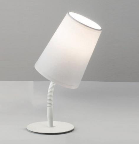 Lampada da tavolo orientabile con paralume bianco