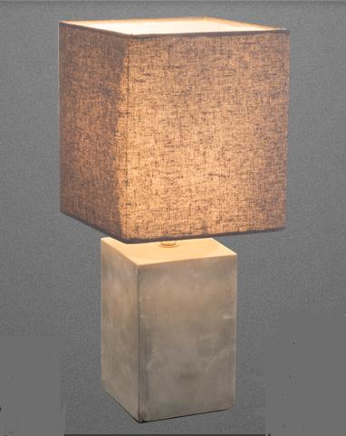 Lampada Tavolo Quadrata Cemento E Paralume Globo Lighting 21700 Idea Luce Di Filippi Carru Cuneo