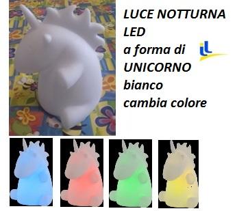 Lampada Unicorno Led Batterie Cambia Colore Luci E Colori 36853 Idea