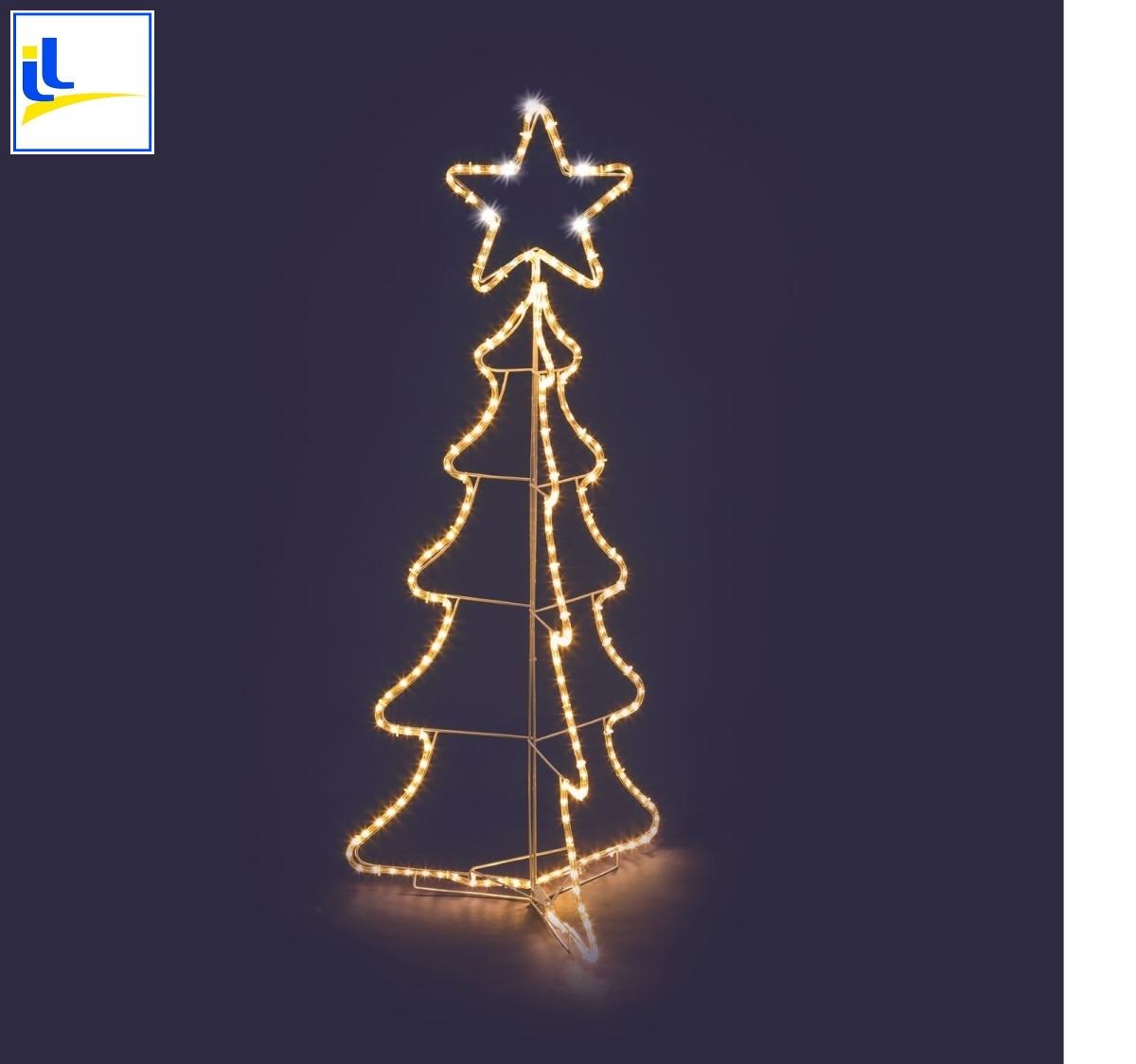 Luci Albero Natale.Albero Natale 216 Led Alto Cm 130