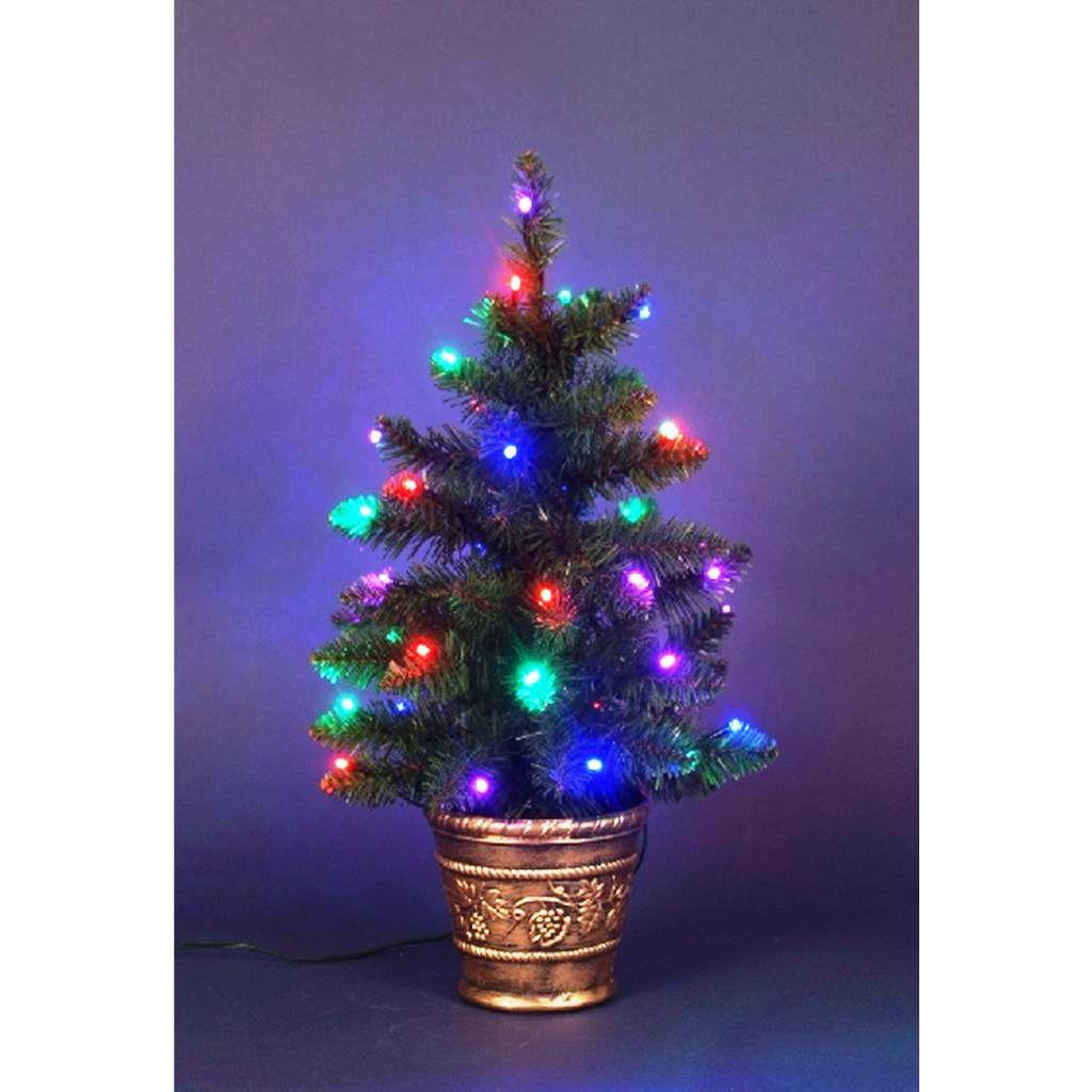 Albero natale 40 led colorati per interno 60cm 21068 for Obi albero di natale