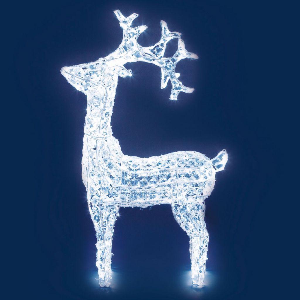 Renna 90cm luminosa led esterno 27299 - Renna natalizia luminosa per giardino ...
