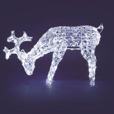 Renna che bruca 70cmxh50 luminosa led esterno 31142 natale - Renna natalizia luminosa per giardino ...