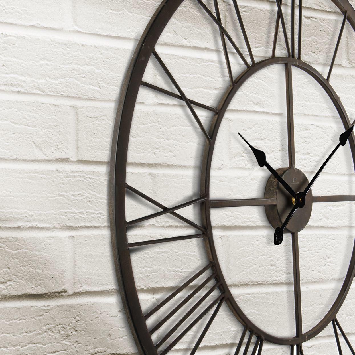 Orologio da parete grande in metallo anticato 76cm LOWELL 21469 Idea Luce  di Filippi - Carrù(Cuneo)