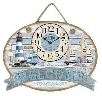 Orologio parete mare 40x30 welcome 33232