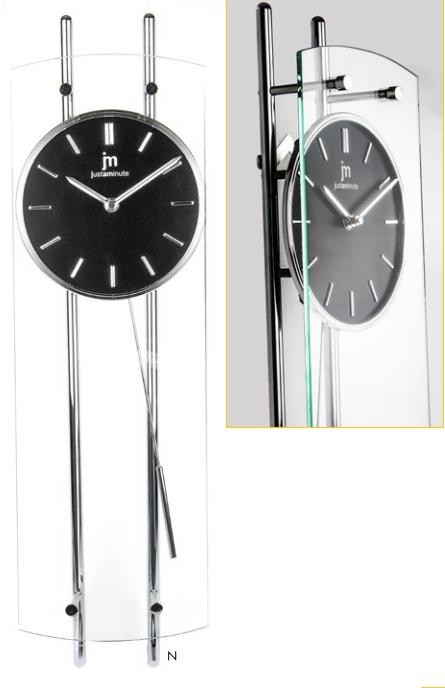 Orologio A Pendolo Moderno.Orologio A Pendolo Quadrante Nero 63cm Lowell 14548n Idea Luce Di
