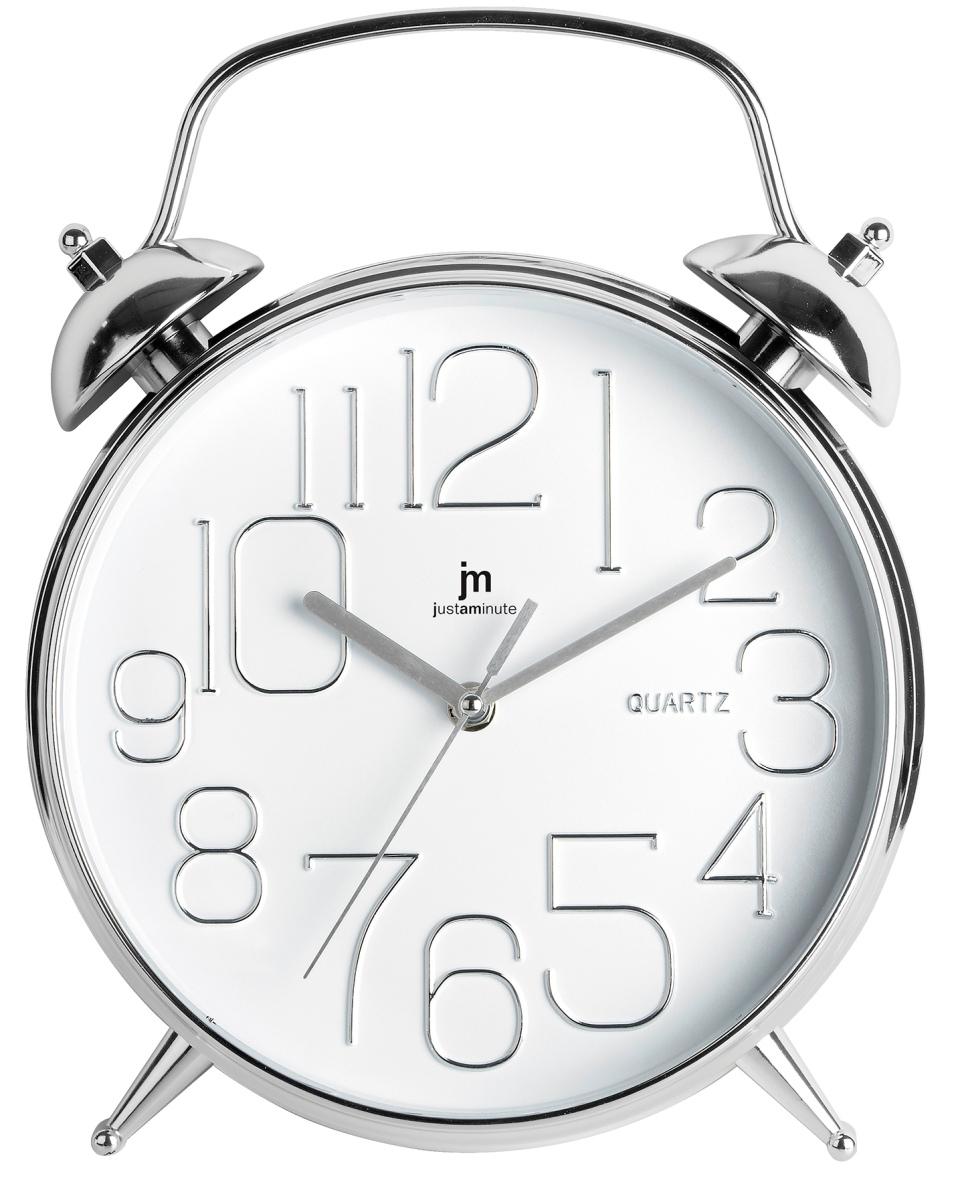 Orologio da parete forma sveglia cromo 00815b lowell for Foto orologio da parete