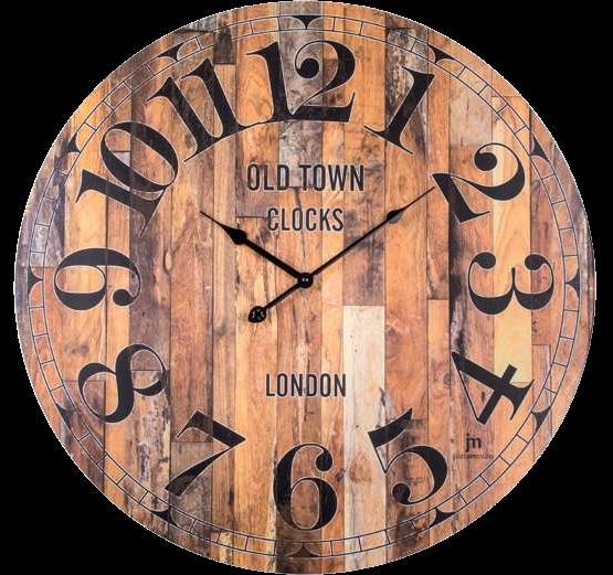 Orologio da parete legno noce paris 21461 lowell for Scritte in legno da parete