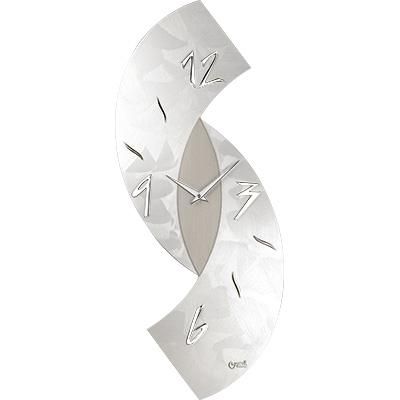 Orologio Parete Design Moderno Grigio 30x80 Lowell 11476 Idea Luce