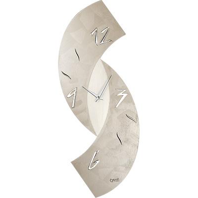 Orologio parete moderno design tortora 30x80 11477 lowell for Orologi parete moderni
