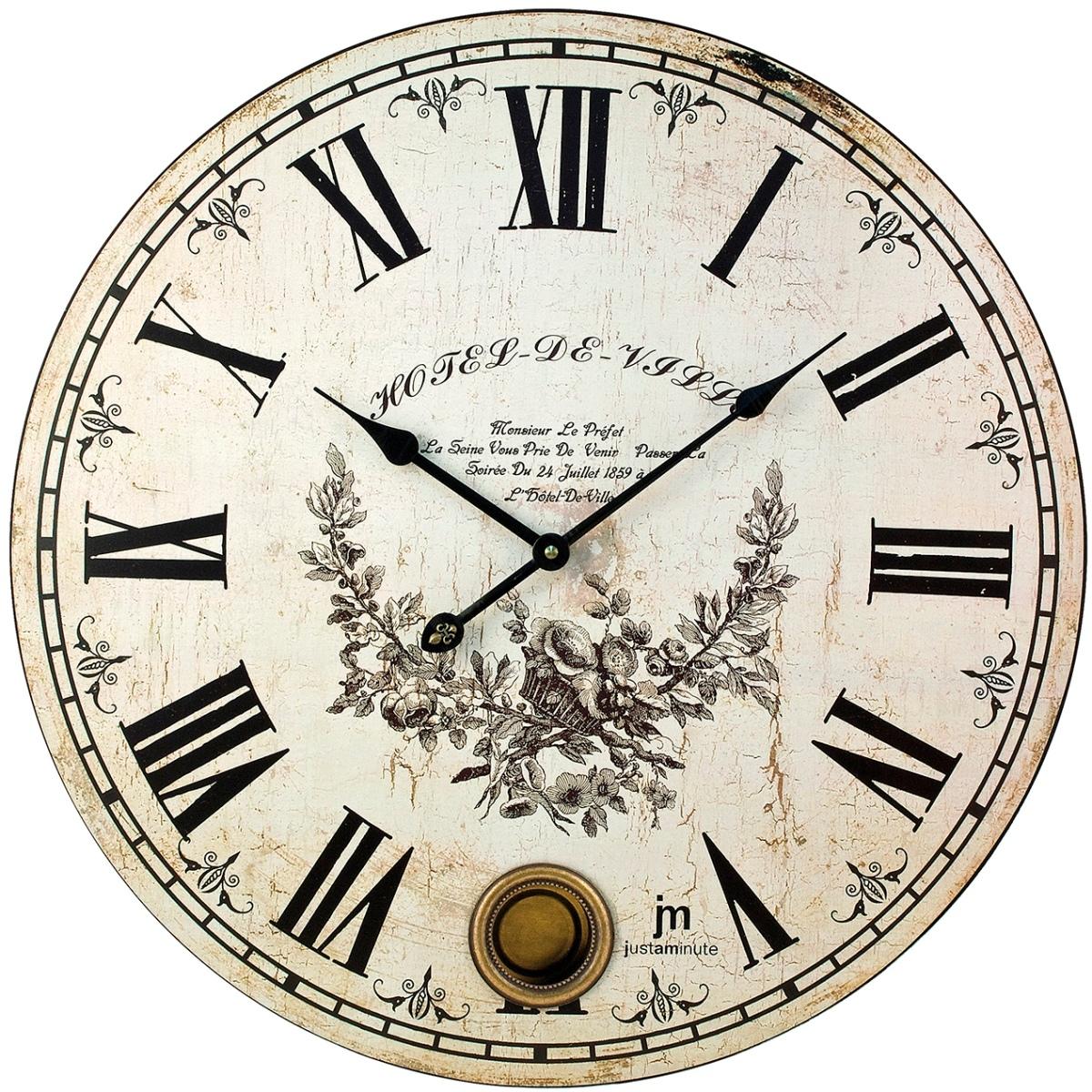 Orologio quadrante anticato d 47 5cm con pendolo 21407 for Idee per orologio da parete