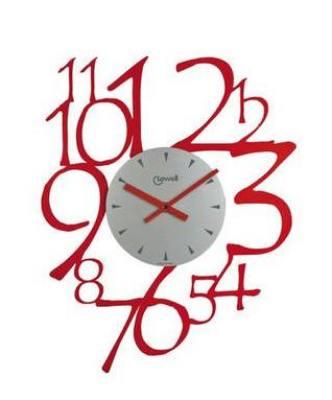 Orologio Parete Moderno Rosso 40x50 Lowell Rosso 05828
