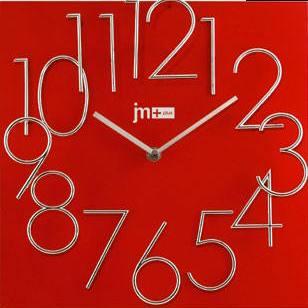 Orologio parete rosso 30x30 numeri rilevo 14535r lowell for Foto orologio da parete