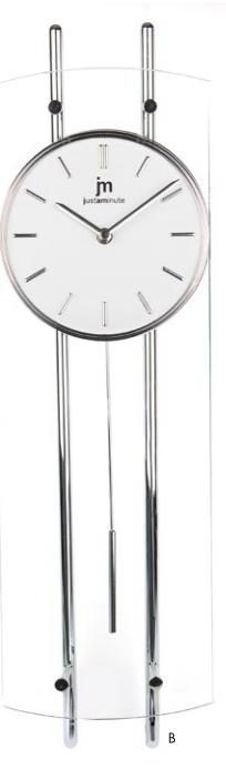 Orologio A Pendolo Moderno.Orologio Pendolo Moderno Bianco Como 18x63 Lowell 14548b Idea Luce