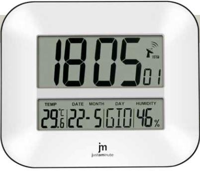 Orologio radiocontrollato parete tavolo 24x27cm jd9902 lowell for Orologi da tavolo moderni