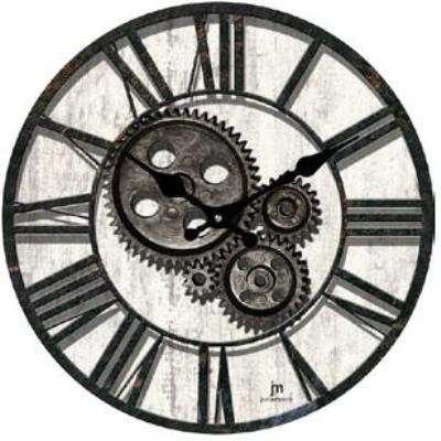 Orologio Parete Grigio Anticato E Disegno Ingranaggi Lowell