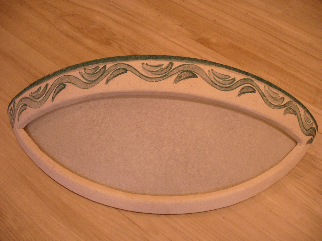 Applique ceramica vaschetta decoro verde outlet luci gmi00235 185 ve