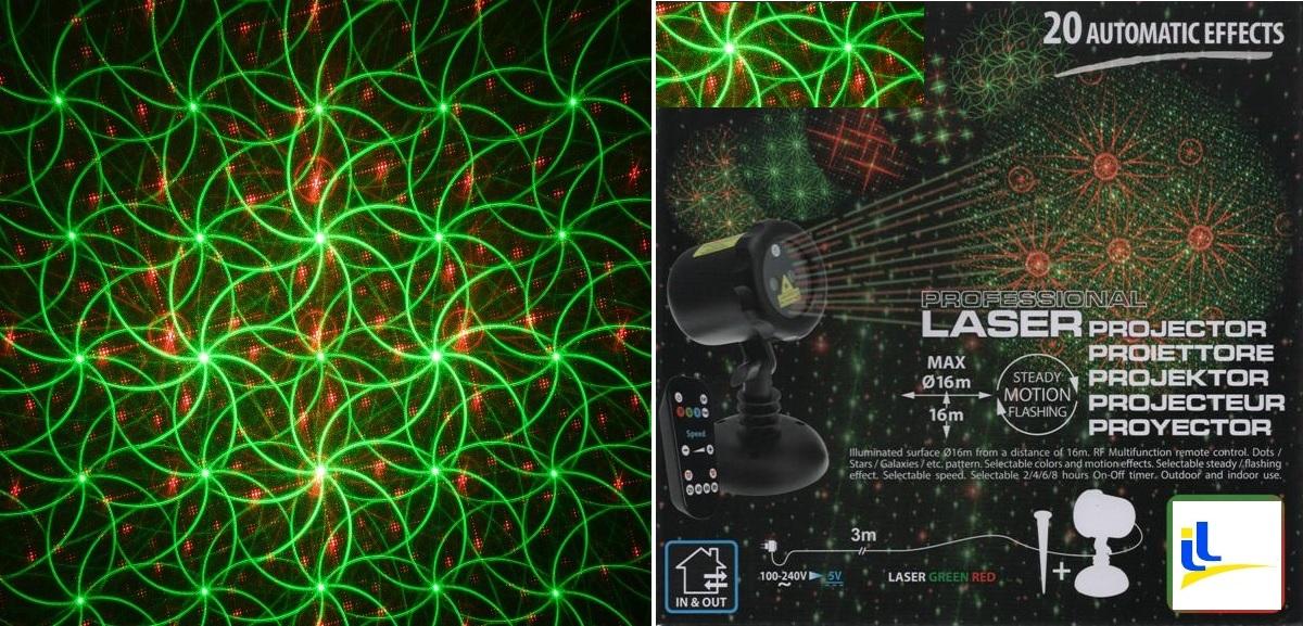 Proiettore Luci Laser Natalizie.Proiettore Laser Per Esterno Stelle E Galassie