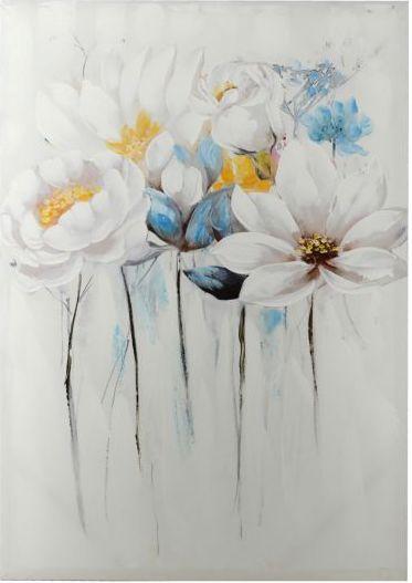 Quadro 70x100 fiori azurri e bianchi mod. B