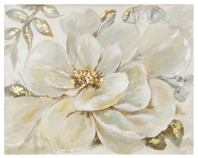 Quadro con fiore bianco 100x80 COLORI E LUCI 36949 Idea Luce di ...