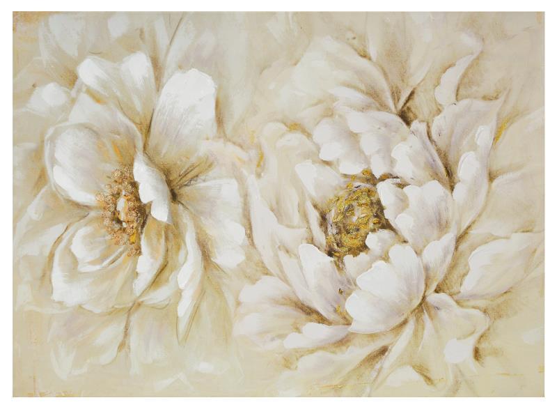 Quadro 2 fiori bianchi 77x55 verticale-orizzontale COLORI E LUCI ...
