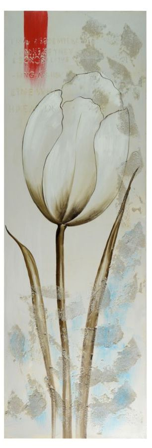 Quadro tulipani bianchi 50xh150 LUCI E COLORI 31541 Idea Luce di ...