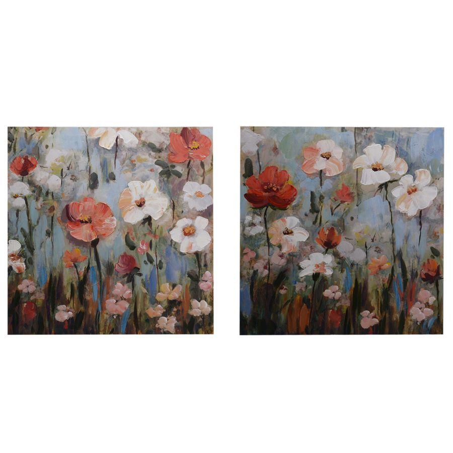 Set 2 quadri 50x50 campo di fiori COLORI E LUCI 37294 Idea Luce di ...