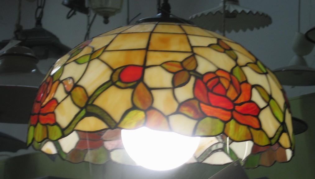 Lampadario a sospensione tiffany 163089 idea luce di filippi ...