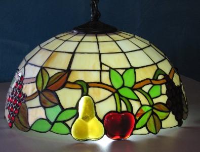 lampadario tiffany : TIFFANY Lampadario Tiffany con base avorio e frutta
