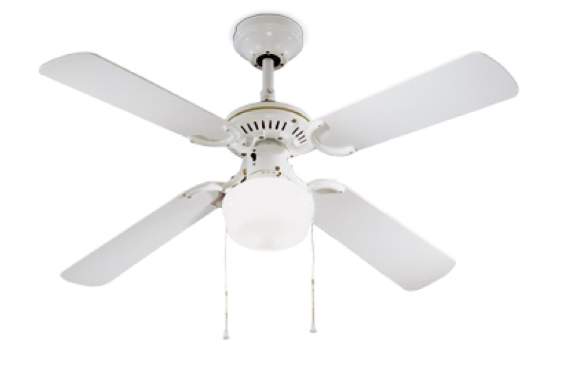 Ventilatore a soffitto perenz pale luce bianco idea luce